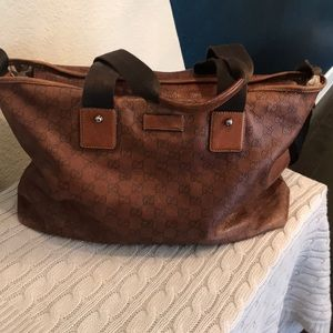 Authentic Brown leather Gucci bag